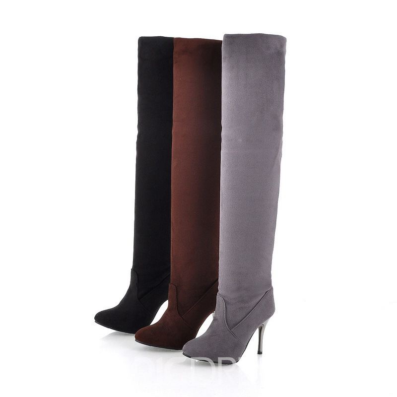 Ericdress Round Toe Stiletto Heel Women's Knee High Boots