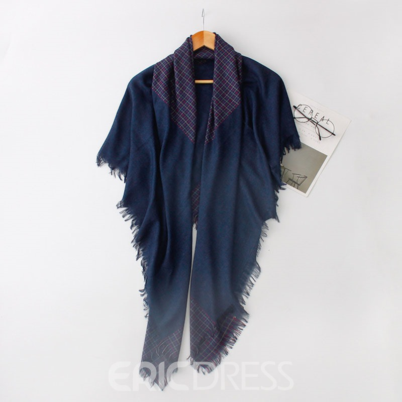 Ericdress 140cmX140cm Check Cotton Shawl For Women