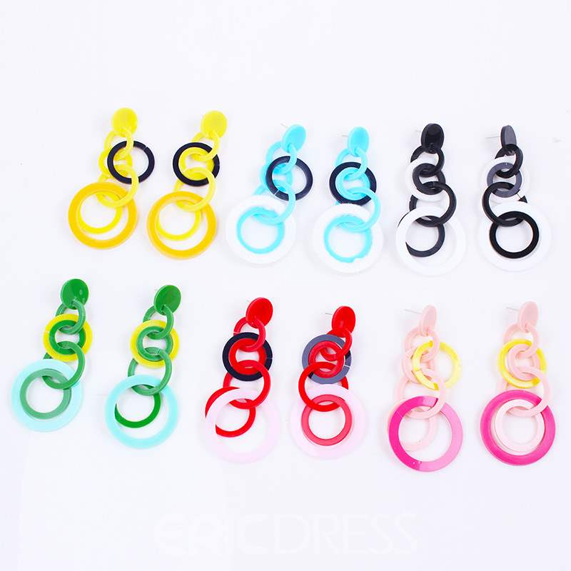 Ericdress Loops Color Fashion Earrings