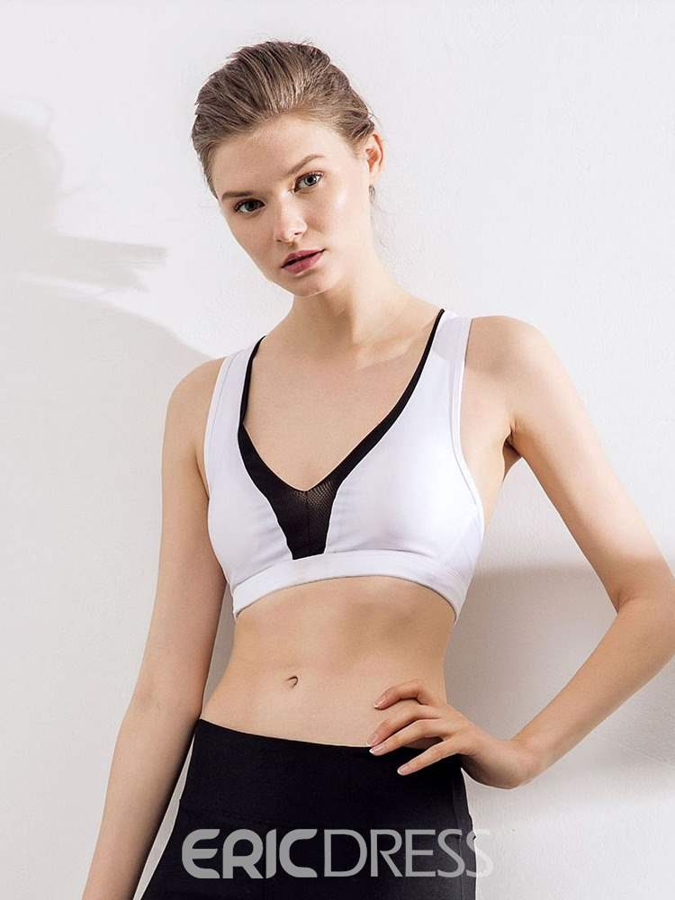 Ericdress Shockproof Non-Adjusted Straps Medium Free Wire Sports Bras