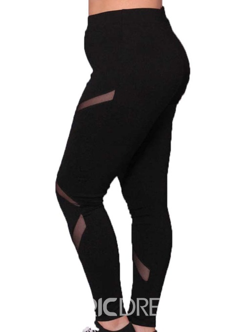 Ericdress Plus Size Plain Mesh Leggings