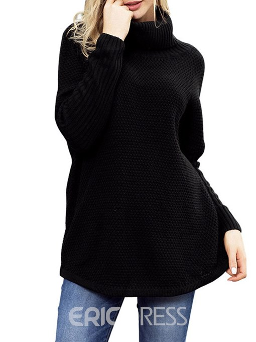 Ericdress High Neck Thread Mid-Length Knitwear