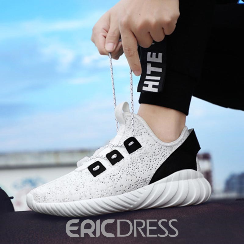 Ericdress Mesh Mid-Cut Upper Lace-Up Men's Sneakers