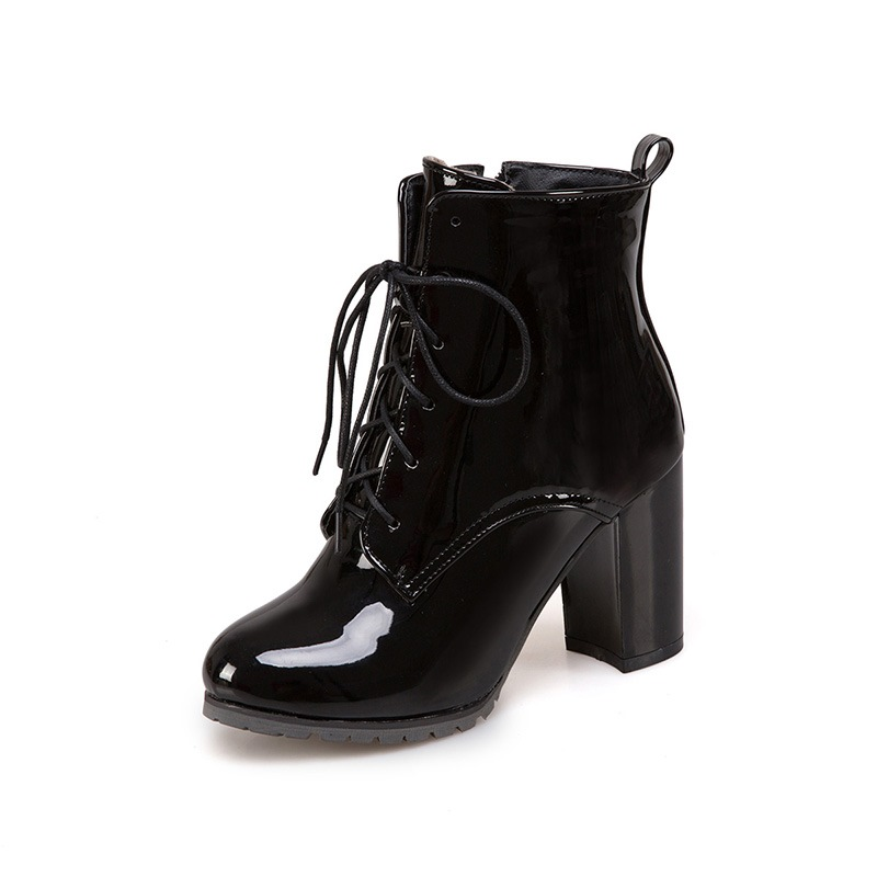 Ericdress PU Side Zipper Chunky Heel Women's Ankle Boots