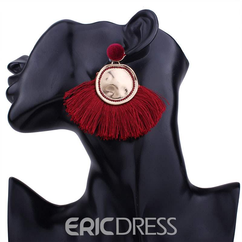 Ericdress Tassels Solid Color Earrings