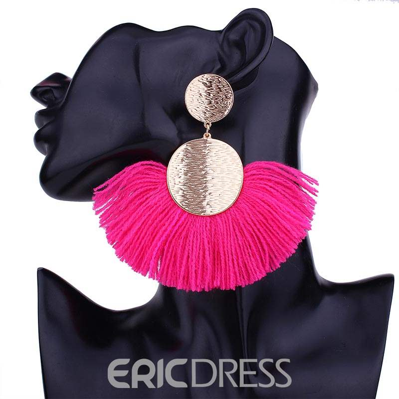 Ericdress Sector Tassels Earrings