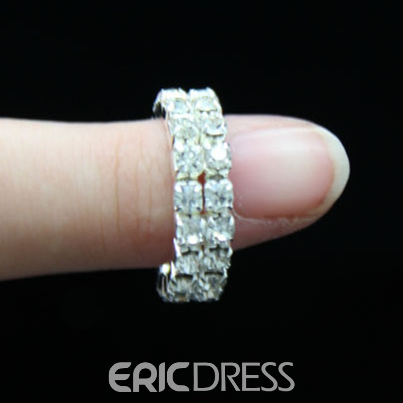 Ericdress Diamante Shining Ring