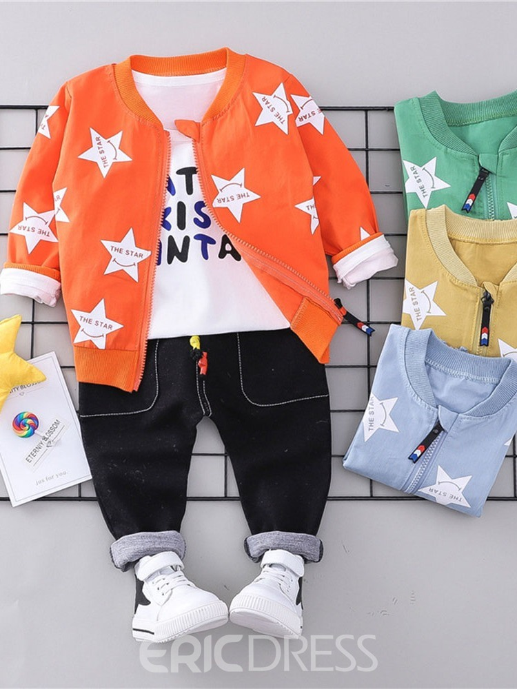 Ericdress Star Printed 3 Pieces Baby Boy's Casual Outfits