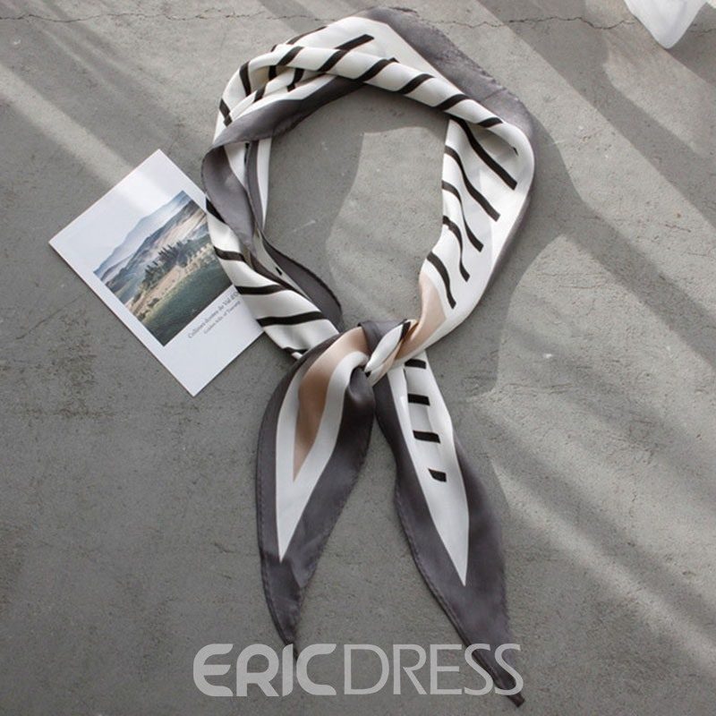 Ericdress Stripe Little Bag Scarf