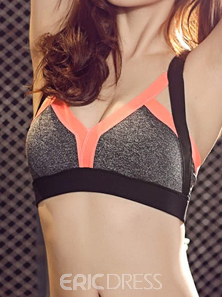 Ericdress Push Up Non-Adjusted Straps Three Quarters Lycra Sports Bras