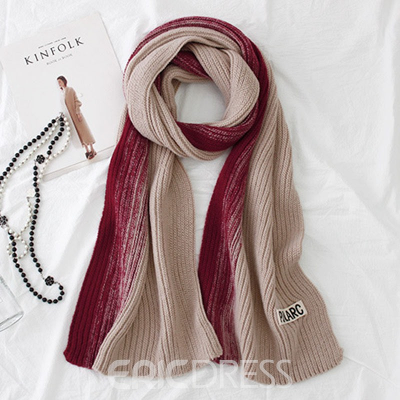 Ericdress Knit Two Tone Women Scarf