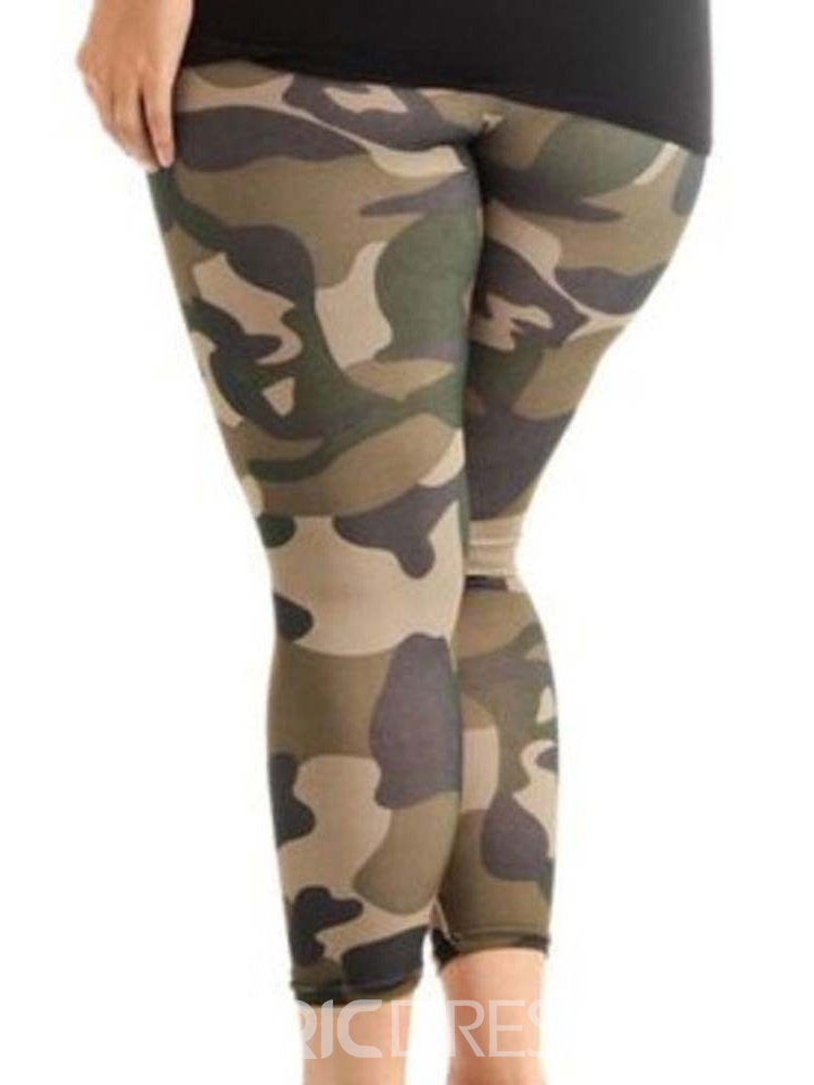 Ericdress Camouflage Plusee Skinny Women's Leggings Pants