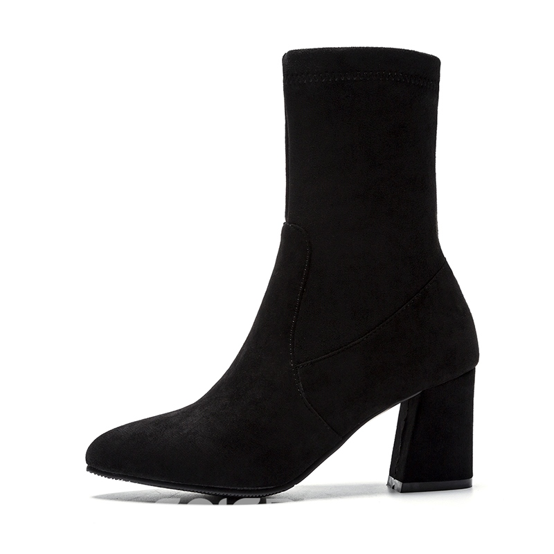 Ericdress Pointed Toe Chunky Heel Ankle Boots