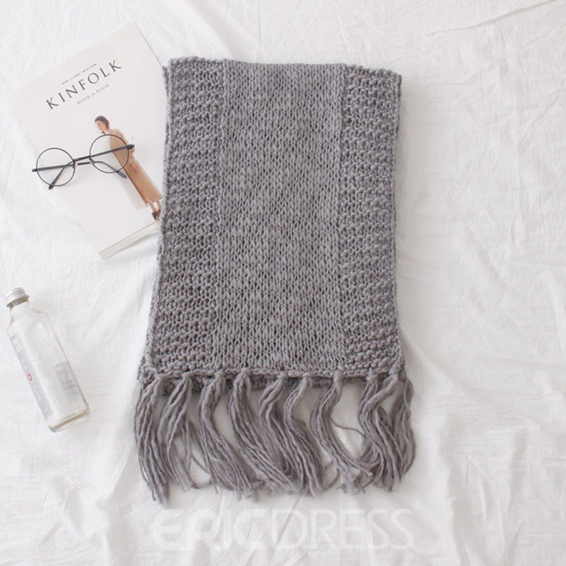 Ericdress Knit Solid Color Scarf For Women