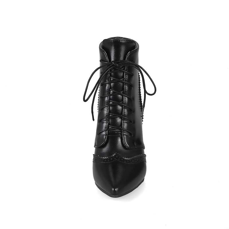 Ericdress Lace-Up Front Pointed Toe Women's Ankle Boots
