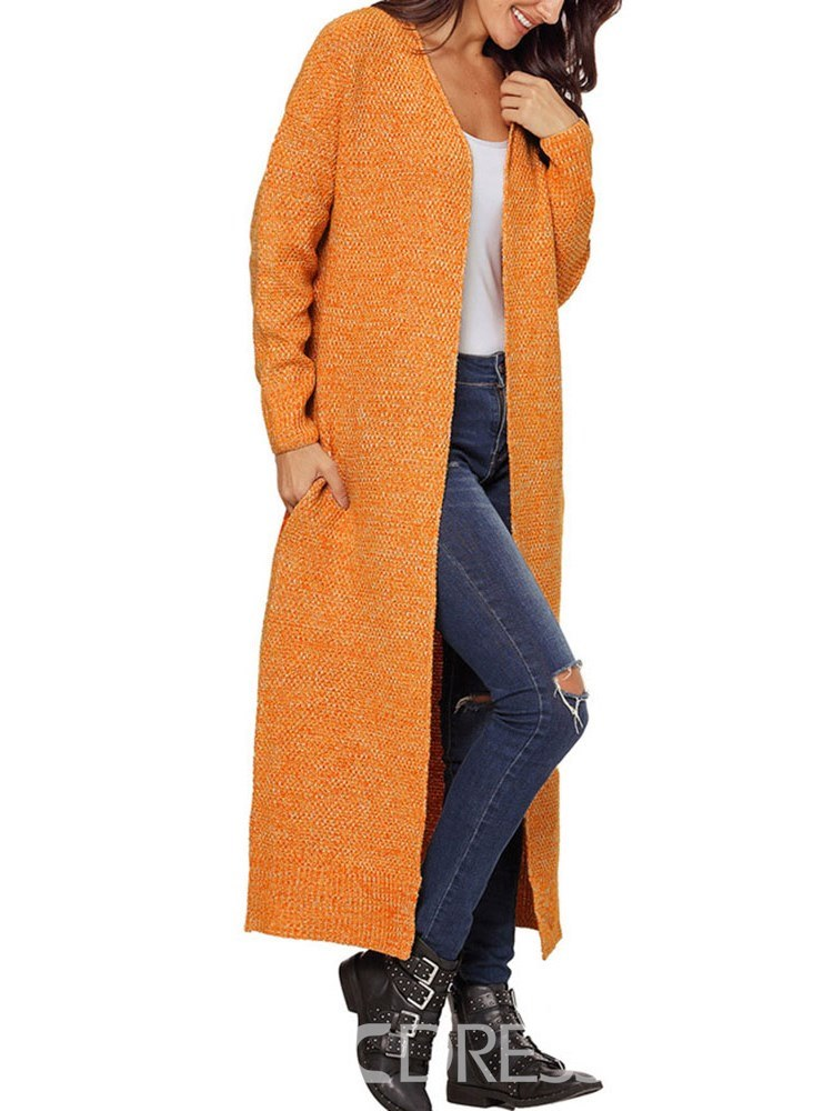 Ericdress V-Neck Loose Regular Long Cardigan