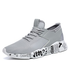 Ericdress Lace-Up Patchwork Mesh Mens Athletic Shoes ericdress