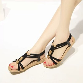 Ericdress Strappy Elastic Band Thong Flat Sandals