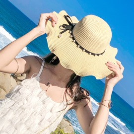 ericdress vague bord perle sunhat