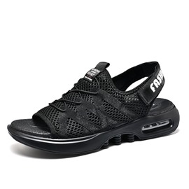 Ericdress Mesh Velcro Lace-Up Plain Men's Sandals