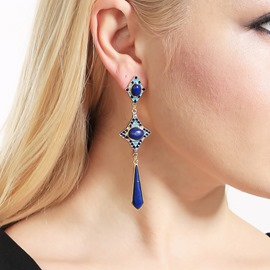 Ericdress Retro Lapis Lazuli Luxury Earrings