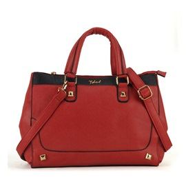 Ericdress Plain Synthetic Leather Medium Tote Bag