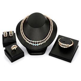 Ericdress Colorfully Crystal Jewelry Set