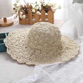 Ericdress Lace Straw Hollow Out Summer Sunhat