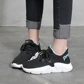 Ericdress Thread Lace-Up Round Toe Women's Sneakers