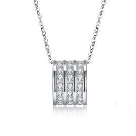 Ericdress Luck Beads Diamante Charm Necklace