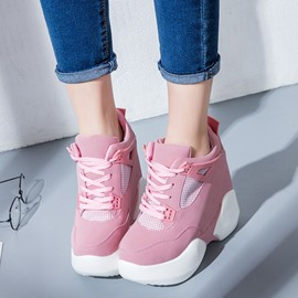 Ericdress Patchwork Hidden Elevator Heel Women's Sneakers