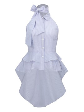 Ericdress Women's Swallowtail Ruffles Shirt