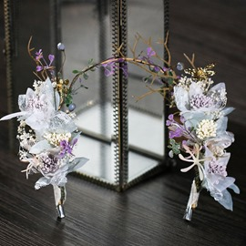 Ericdress Elfin Violet Garland Wedding Bridal HairBand