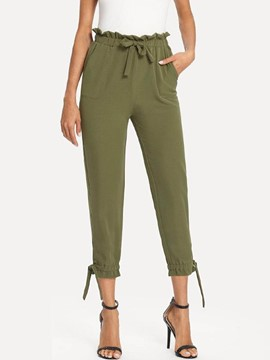 Ericdress Loose Lace-Up Mid-Calf Women's Pants