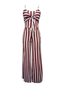 Ericdress Wide Leg Stripe Women's Jumpsuit