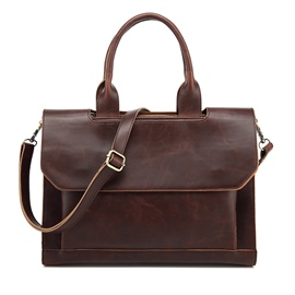 Ericdress Plain PU Patchwork Rectangle Men's Tote Bags