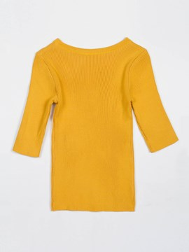 Solid Color Pullover Hole Tee Women's Knitwear