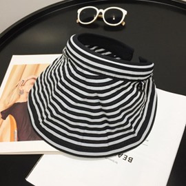 Ericdress Stripe Cotton Sunhat