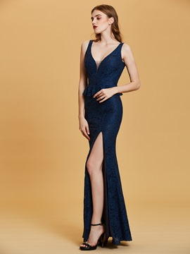 Ericdress V Neck Sequins Mermaid Evening Dress