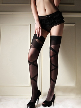 Eridress Women Sexy Stripes Thigh High Long Stockings