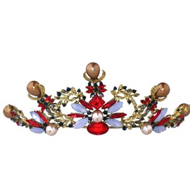 Ericdress Baroque Colorful Crystal Hair Band