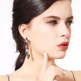 Ericdress Baroque Luxury Crystal Earrings