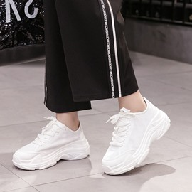 Ericdress Lace-Up Slip-On Round Toe Women's Sneakers