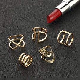 Ericdress Minimalist Alloy Ring Set