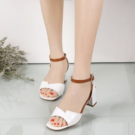 Ericdress Ankle Strap Open Toe Chunky Sandals