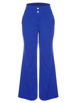 Ericdress Wide Leg Plain Women's Pants