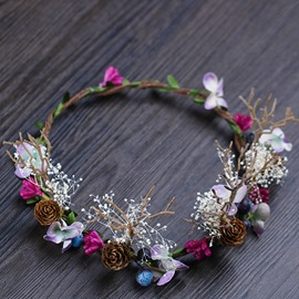 Ericdress Hand Made Dried Flower Hair Garland