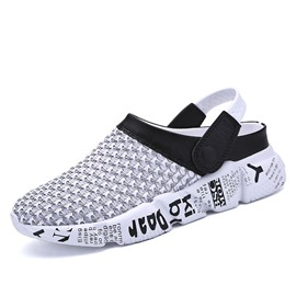 Ericdress Mesh Color Block Slip-On Men's Sandals