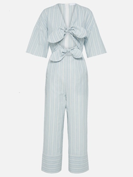 Ericdress Ankle Length Stripe Women's Jumpsuit