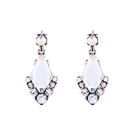 Ericdress Rhombus Diamante Earrings
